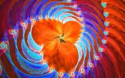 Espacio micro: fondo del fractal Foto de archivo libre de regalías