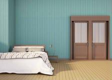 Espacio moderno contemporáneo del inconformista del dormitorio Imagen de archivo