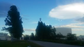 espacio Nube-formado del UFO causado por el fenómeno natural fotografía de archivo