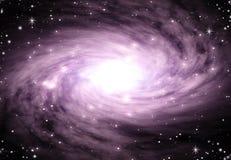 Espacio púrpura del remolino Imagenes de archivo