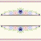 Espacio para el texto en el ornamento floral del fondo Imagen de archivo libre de regalías