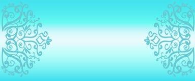 Espacio para el texto Fondo azul de la pendiente stock de ilustración