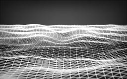 Espacio poligonal abstracto bajo polivinílico Foto de archivo