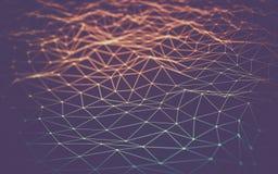 Espacio poligonal abstracto bajo polivinílico Fotos de archivo