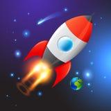 Espacio Rocket de vector Imágenes de archivo libres de regalías