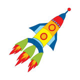 Espacio Rocket de vector libre illustration