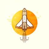 Espacio Rocket Vector Imágenes de archivo libres de regalías