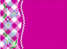 Espacio rosado de la copia del vector EPS 8 con guinga y maíz Imágenes de archivo libres de regalías