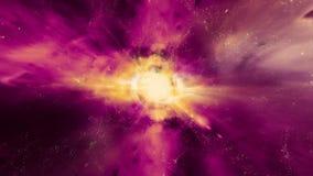Espacio 2238: Vuelo a través de campos de estrella en espacio exterior libre illustration