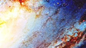 Espacio y estrellas cósmicas, fondo abstracto cósmico del color y efecto gráfico stock de ilustración