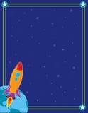 Espacio y Rocket Fotos de archivo libres de regalías