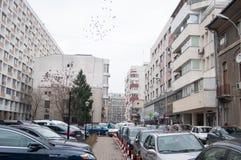 Espacios de estacionamiento de Bucarest Foto de archivo