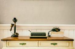 espacios de trabajo del vintage fotografía de archivo libre de regalías