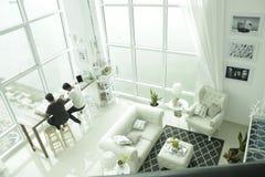 Espacios de trabajo modernos, un apartamento en Penang, Fotos de archivo libres de regalías