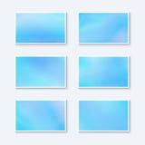 Espacios en blanco para las tarjetas de visita ilustración del vector