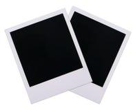 Espacios en blanco polaroid de la película Fotos de archivo