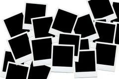 Espacios en blanco polaroid vacíos de la foto Imagen de archivo