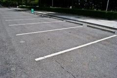 Espacios en estacionamiento Imagen de archivo libre de regalías