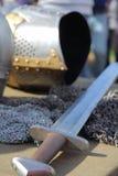 Espada, armadura e capacete Imagens de Stock Royalty Free