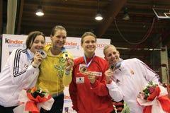 A espada 2014 das mulheres do campeonato do mundo Fotografia de Stock