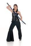 Espada de Katana da mulher. Imagem de Stock