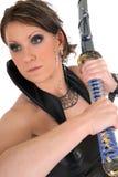 Espada de Katana da mulher. Imagem de Stock Royalty Free