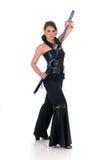 Espada de Katana de la mujer. Fotografía de archivo