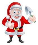 Espada de la paleta de Santa Giving Thumbs Up Holding de la historieta libre illustration