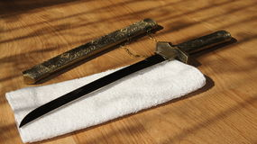 Espada de Seppuku fotografía de archivo libre de regalías