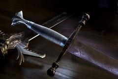 Espada del metal Imágenes de archivo libres de regalías
