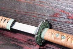 Espada del samurai de Katana Imágenes de archivo libres de regalías