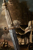 Espada del siglo XIX del Slavic Imagenes de archivo