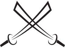 Espada del tatuaje Imagenes de archivo