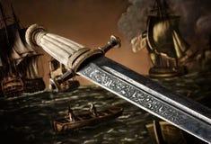 Espada do 19o século do Slavic Imagens de Stock