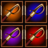 Espada do pirata Fotos de Stock Royalty Free
