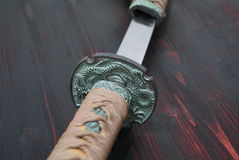 Espada do samurai de Katana Imagens de Stock