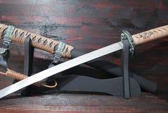Espada do samurai do swordKatana do samurai do swordKatana do samurai do swordKatana do samurai de Katana imagem de stock royalty free