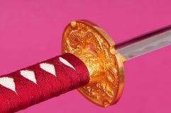 Espada do samurai isolada Fotos de Stock Royalty Free