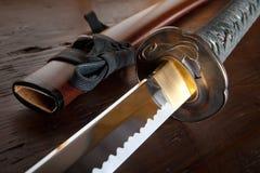 Espada e bainha japonesas fotos de stock