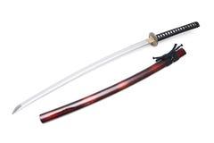 Espada e bainha japonesas Foto de Stock Royalty Free