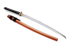 Espada e bainha japonesas Fotografia de Stock