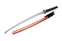 Espada e bainha japonesas Foto de Stock
