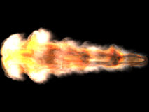 Espada en fuego Imagen de archivo