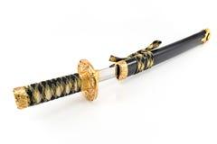 Espada japonesa del katana del samurai Fotos de archivo libres de regalías