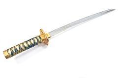Espada japonesa do katana do samurai foto de stock