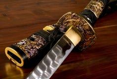 Espada japonesa do samurai Fotografia de Stock