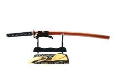 Espada japonesa no suporte Imagem de Stock Royalty Free