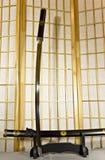 Espada japonesa tradicional del samurai Fotos de archivo libres de regalías