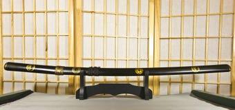 Espada japonesa tradicional del samurai Fotografía de archivo