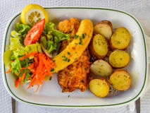Espada Madeira. The national dish of Portugal in Madeira Royalty Free Stock Images